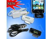 Wireless Stereo LCD FM Transmitter+Car Charger for iPhone 4S 4 3 iPod Nano Touch