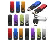 16G 16GB USB 2.0 Flash Memory Stick Thumb Drive U-Disk Storage Rotate Fold Pen Gift for Computer PC Laptop Notebook