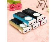 Mini USB Clip MP3 Music Player LCD Screen Support 16GB Micro SD TF Card With LED Light for Christmas New Year Gift