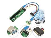 USB 3.0 PCI-E Express 1x to16x Extender Riser Board Card Adapter SATA Cable 15P