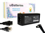 UBatteries AC Adapter Charger Sony VAIO VPCEE46FX/T - 65W, 19.5V