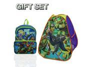 Teenage Mutant Ninja Turtles Classic Hideaway+Teenage Mutant Ninja Turtle 16-Inch Ready For Battle Backpack 9SIA2W06FR3265