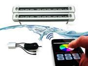 LEXIN iPhone iPad Operated Underwater LED Color Changing Kits - One Smart CPU Control Box Plus Two Underwater LED Lights