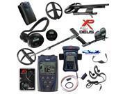 """XP Deus Metal Detector w/ Backphone Headphone, Remote, 11"""" Coil & Waterproof Kit"""