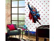 Superman White Logo Prepasted Wallpaper (2X Single Rolls) 9SIA2X119N3515