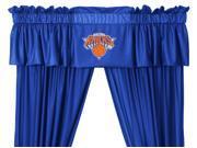 NBA New York Knicks 5pc Long Curtain-Drapes Valance Set