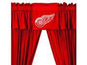 NHL Detroit Redwings Hockey 5pc Valance-Curtains Set