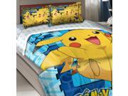 Pokemon Twin-Full Comforter Set Big Pikachu Bedding