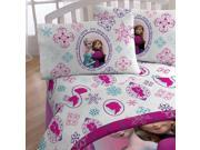 Disney Frozen Full Bed Sheet Set Anna Elsa Snowflakes Bed