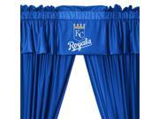 MLB Kansas City Royals Drape Valance Set Baseball Drapery