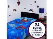 Ultimate Spider-Man Twin Flat Fitted Sheets and Stickers 9SIA2X15VU3818