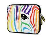 Amzer 10.5-Inch Designer Neoprene Sleeve Case Pouch for Tablet, eBook, Netbook - Zebra Colour Stripes