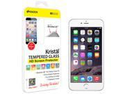 Amzer Kristal Tempered Glass HD Screen Protector for iPhone 6 Plus (Fit All Carriers)