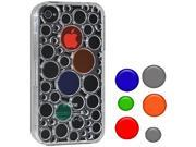 Amzer AMZ93530 Injecto Snap On Hard Case Cover with Dots for iPhone 4, iPhone 4S (Fits ATT, Sprint and Verizon iPhone 4 4S) - Clear