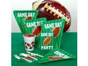Game Day Football Night 130pc Party Pack for 16 Tableware, Tablecloth & Balloon