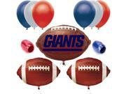 New York Giants NFL Balloon Decorating Party Pack - 10pc Starter Kit