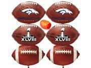 Denver Broncos Mylar Balloons Super Bowl 50 Party 7pc Football Decoration Pack
