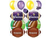 Minnesota Vikings NFL Football Party Ultimate 32pc Balloon Pack Purple Yellow