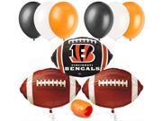 Cincinnatti Bengals NFL Football Party Decor Starter 10pc Balloon Pack