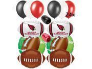 Arizona Cardinals NFL Super Bowl Football Balloons Decorating Ultimate Pack 32pc