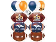 Denver Broncos Super Bowl 50 Balloons Football Decorations Ultimate Pack 32pc