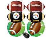 Pittsburgh Steelers Playoffs Football Mylar Foil 7pc Balloon Pack Black Yellow 9SIA2Y23U06017