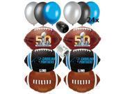 Carolina Panthers Super Bowl 50 NFL Football Balloon Decoration Pack 32pc
