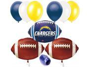 San Diego Chargers NFL Football Balloon Decorating Party Pack 10pc