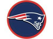 """NFL New England Patriots Super Bowl Party 8 Pack 9"""""""" Dinner Plates Blue Red White"""" 9SIA2Y23U06077"""