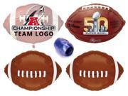 AFC NFL Super Bowl 50 Football Foil Balloons Super Bowl 5pc