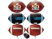 Carolina Panthers Super Bowl 50 NFL Mylar Balloons Football Decoration Pack 7pc