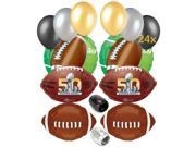 Super Bowl 50 2016 NFL Football Balloon Decorating Party Pack 32pc Ultimate Kit