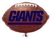 """Anagram New York Giants NFL 21"""" Football Shape Mylar Foil Balloon - 10 Pack"""