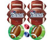 New England Patriots NFL Super Bowl Mylar Foil Balloons 10pc Ultimate Party Pack