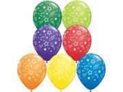 "Qualatex Stars, Dots & Confetti Around 50 Pack 11"" Latex Balloons Assorted"