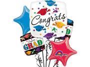Anagram Congrats Dare To Dream Graduation 5pc Balloon Pack White Multicolored 9SIA2Y241F3073