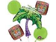 Anagram Hawaiian Tropical Island Tiki Luau Party 5pc Balloon Pack 9SIA2Y21N07144