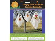 """Unique Halloween Party Silly Ghosts 3 Pack 35"""" Hanging Decorations White"""