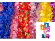 100 Piece Assorted Fabric Hawaiian Flower Lei, Headband, Wristlet Hula Mega Pack