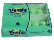 Peeps Easter Marshmellow Chicks Candy Gift Peeps, Green, 10 Pack