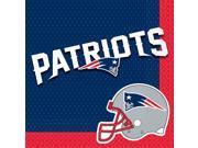 New England Patriots NFL Football Luncheon Napkins 16 Pack 9SIA2Y25U16639