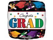 """Anagram Cograt Grad Dare to Dream Square 18"""""""" Foil Balloon"""" 9SIA2Y24290843"""