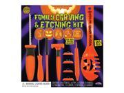 Fun World Family Carving and Etching 20pc Pumpkin Carving Kit, Orange 9SIA2Y26590681