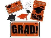 Congrats Grad Mega Value Pack School Color Decoration 30pc Cutouts, Orange 9SIA2Y244F4720