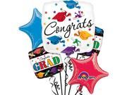Anagram Congrats Dare To Dream Graduation 5pc Balloon Pack, White 9SIA2Y241F3073