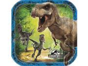 "Unique Jurassic World Dinosaurs Party 8 Pack 7"""" Dessert Plates"" 9SIA2Y23UM2971"