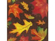 Unique Autumn Fall Leaves Thanksgiving 16x16 Dinner Napkins, 16 CT