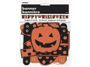 Unique Halloween Dots Jointed Banner 12ft Jointed Banner, Black Orange 9SIA2Y26RF0617