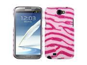 Zebra Pattern (Pink / Hot Pink) Pearl Diamante Rhinestones Bling Back Protector Case Cover for Samsung N7100 (Galaxy Note II)