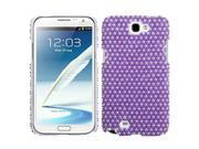 Dots (Purple / white) Pearl Diamante Rhinestones Bling Back Protector Case Cover for Samsung N7100 (Galaxy Note II)